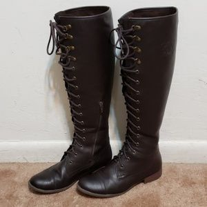 Rocket Dog Calypso Brown Leather Lace Up Boots 7
